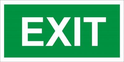 Bezpečnostná tabuľka -  EXIT