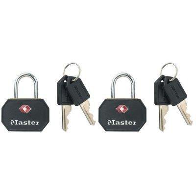 Master Lock TSA 4681EURTBLK set 2 ks visacích zámků - černý