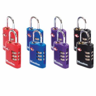 Master Lock TSA 4686EURT set 2 ks kombinačních visacích zámků (1 balení / 4 sety)