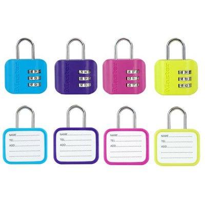 Master Lock 4670EURDCOL  set visacích zámků pro zavazadla (1 balení / 4 ks)