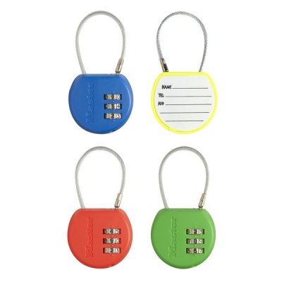 Master Lock 4671EURDCOL  set visacích zámků pro zavazadla (1 balení / 4 ks)