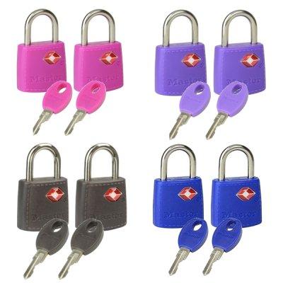 Master Lock TSA 4695EURTAST  set 2 ks visacích zámků (1 balení / 4 sety)