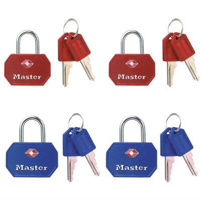 Master Lock TSA 4681EURTBLR  set 2 ks visacích zámků (1 balení / 4 sety)