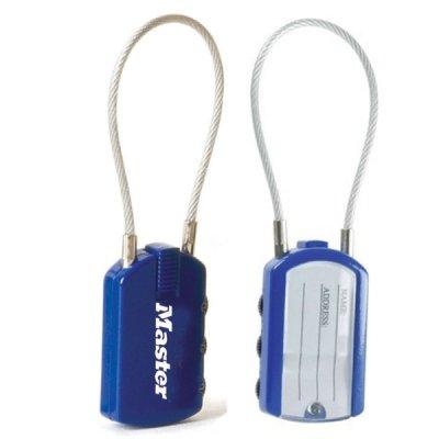 Master Lock 4684EURTCOL set 2 ks visacích zámků pro zavazadla - modrý