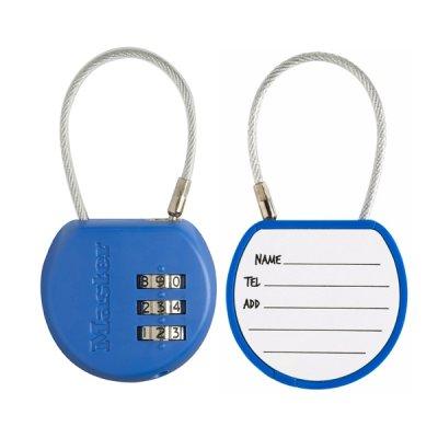 Master Lock 4671EURDCOL  visací zámek pro zavazadla - modrý