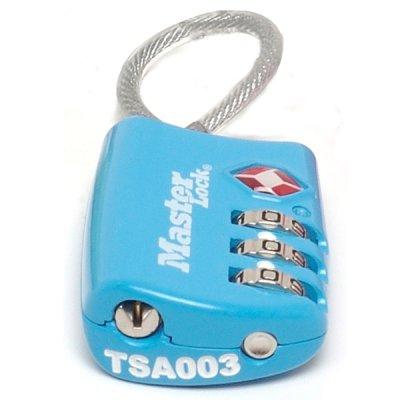 Master Lock TSA 4688EURD visací kombinační zámek - modrý