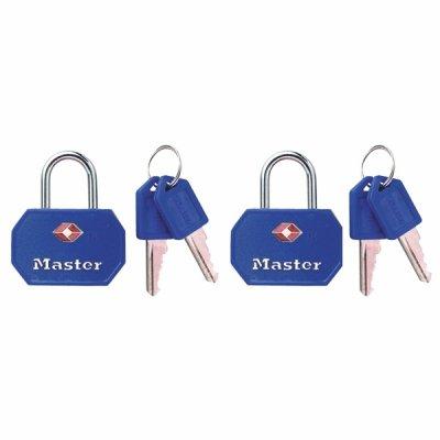 Master Lock TSA 4681EURTBLR  set 2 ks visacích zámků - modrý