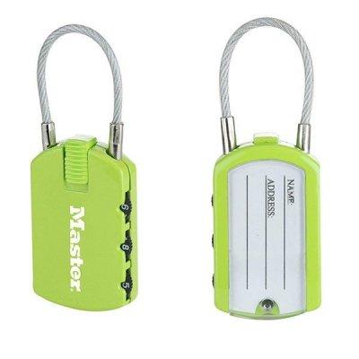 Master Lock 4684EURTCOL set 2 ks visacích zámků pro zavazadla - zelený