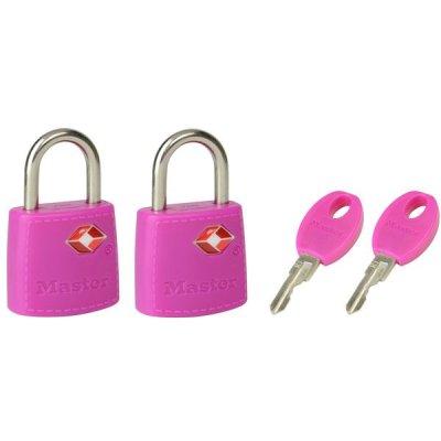 Master Lock TSA 4695EURTAST  set 2 ks visacích zámků - růžový