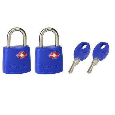 Master Lock TSA 4695EURTAST  set 2 ks visacích zámků - modrý