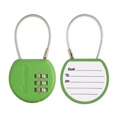 Master Lock 4671EURDCOL  visací zámek pro zavazadla - zelený