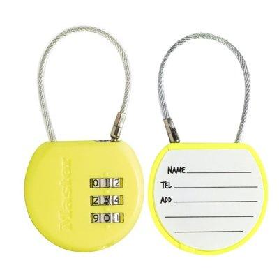 Master Lock 4671EURDCOL  visací zámek pro zavazadla - žlutý