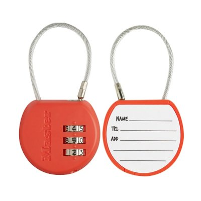 Master Lock 4671EURDCOL  visací zámek pro zavazadla - oranžový