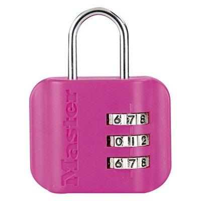 Master Lock 4670EURDCOL  visací zámek pro zavazadla - růžový