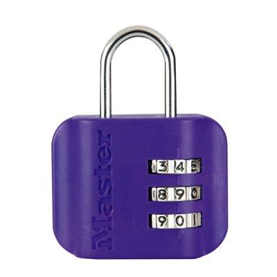 Master Lock 4670EURDCOL  visací zámek pro zavazadla - fialový