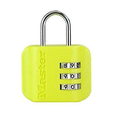 Master Lock 4670EURDCOL  visací zámek pro zavazadla - zelenožlutý