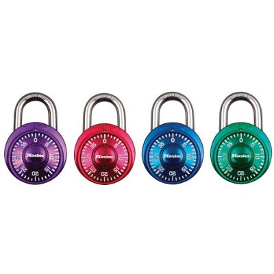 Master Lock 1530EURDCM set kombinačních  visacích zámků 48 mm (1 balení / 4 ks)