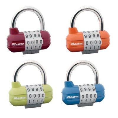 Master Lock 1523EURD set kombinačných visiacich zámkov (1 balenie / 4 ks)