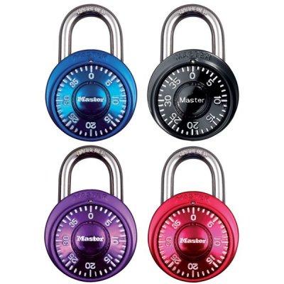 Master Lock 1533EURD set kombinačních visacích zámků 38 mm (1 balení / 4 ks)