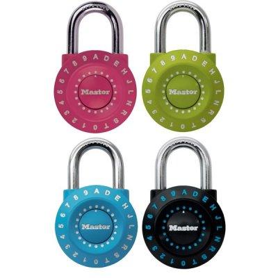 Master Lock 1590EURDCOL set kombinačních visacích zámků 49 mm (1 balení / 4 ks)