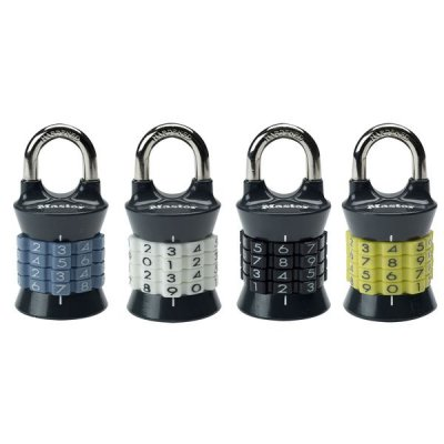 Master Lock 1535EURDCOL set vertikálnych kombinačných zámkov (1 balenie / 4 ks)