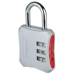 Master Lock 654EURD dizajnový kombinačný visiaci zámok - červený