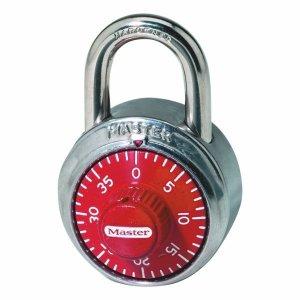 Master Lock 1503EURD kombinačný visiaci zámok 48 mm - červený