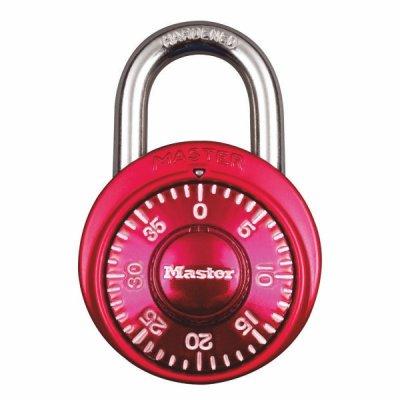 Master Lock 1530EURDCM kombinačný visiaci zámok 48 mm - červený