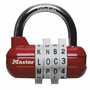 Master Lock 1534EURD kombinačný visiaci zámok horizontálne - červený