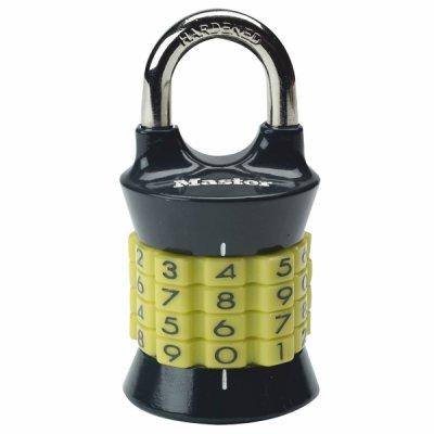 Master Lock 1535EURDCOL kombinačný visiaci zámok vertikálne - žltý