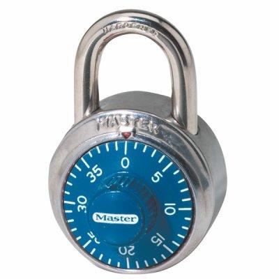 Master Lock 1503EURD kombinačný visiaci zámok 48 mm - modrý