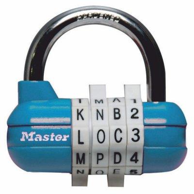 Master Lock 1534EURD kombinační visací zámek horizontální - modrý