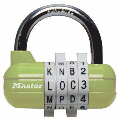 Master Lock 1534EURD kombinační visací zámek horizontální - zelený