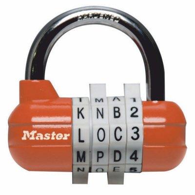 Master Lock 1534EURD kombinačný visiaci zámok - oranžový