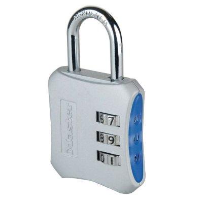 Master Lock 654EURD designový kombinační visací zámek - modrý