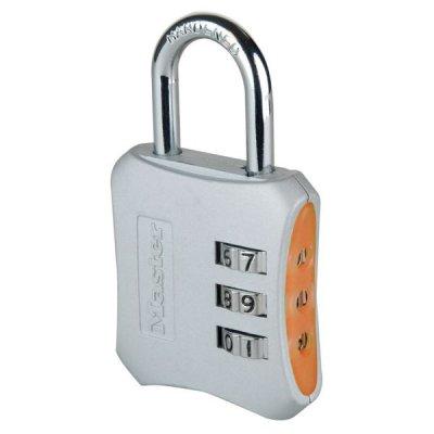 Master Lock 654EURD designový kombinační visací zámek - oranžový