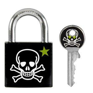 Master Lock  3430EURDSKULL visací zámek z pevného hliníku s lebkou - 30 mm
