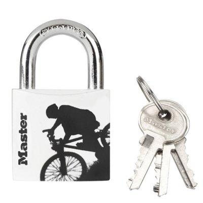 Master Lock 3430EURDSPO_bike visací zámek z pevného hliníku 30 mm