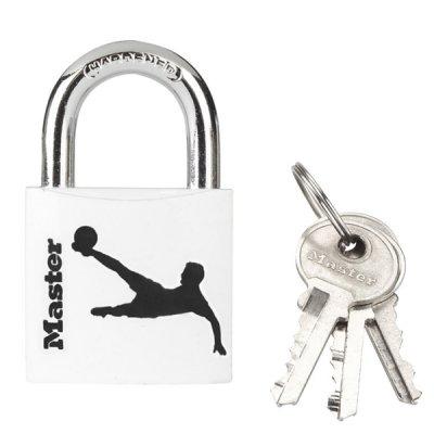 Master Lock 3430EURDSPO_football visací zámek z pevného hliníku 30 mm