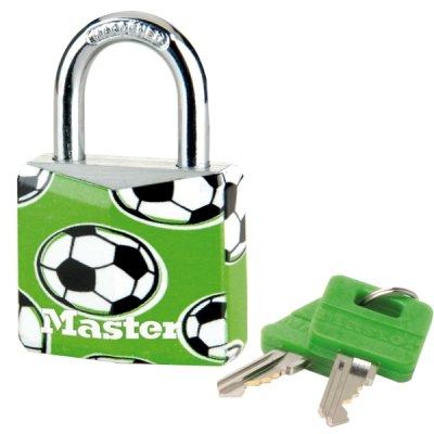 Master Lock 9130EURDPSP_football visiaci zámok z pevného hliníka 30 mm