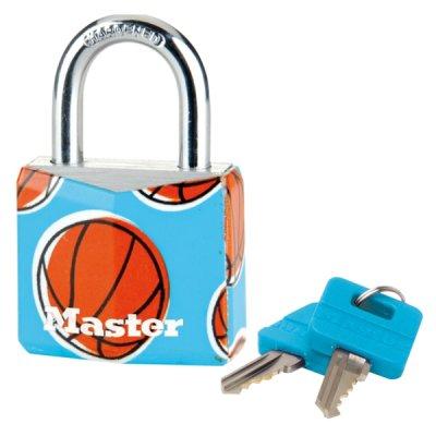 Master Lock 9130EURDPSP_basketball visací zámek z pevného hliníku 30 mm