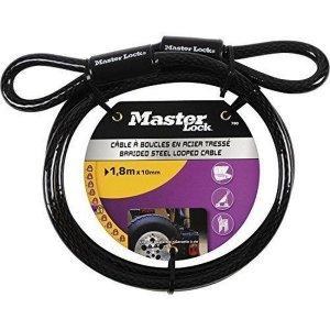 Master Lock 78EURD ocelové lanko 180 x 1 cm - ohebné