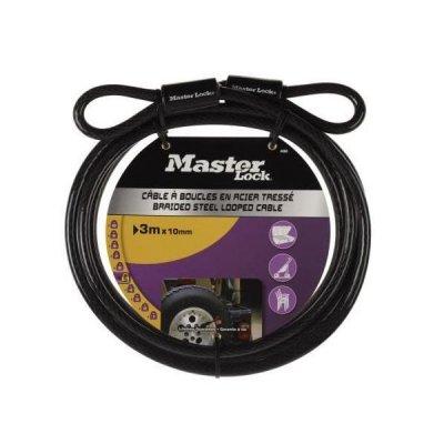 Master Lock 49EURD oceľové lanko 300 x 1 cm - ohybné