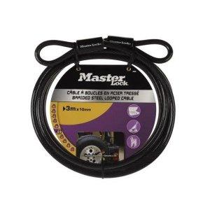 Master Lock 49EURD ocelové lanko 300 x 1 cm - ohebné