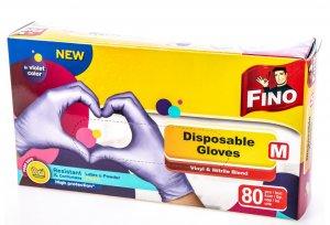 FINO jednorázové vitrilové rukavice 80 ks