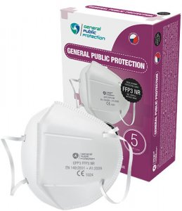 General Public Protection respirátor FFP3 NR 10 ks