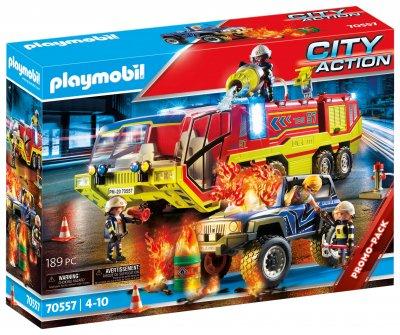 PLAYMOBIL® Hasiči v akci s hasičským vozem