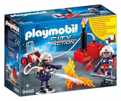 PLAYMOBIL® Feuerwehrmänner mit Löschpumpe