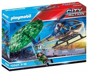 PLAYMOBIL® Polizei-Hubschrauber: Fallschirm-Verfolgung