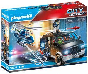 PLAYMOBIL® Polizei-Helikopter: Verfolgung des Fluchtfahrzeugs